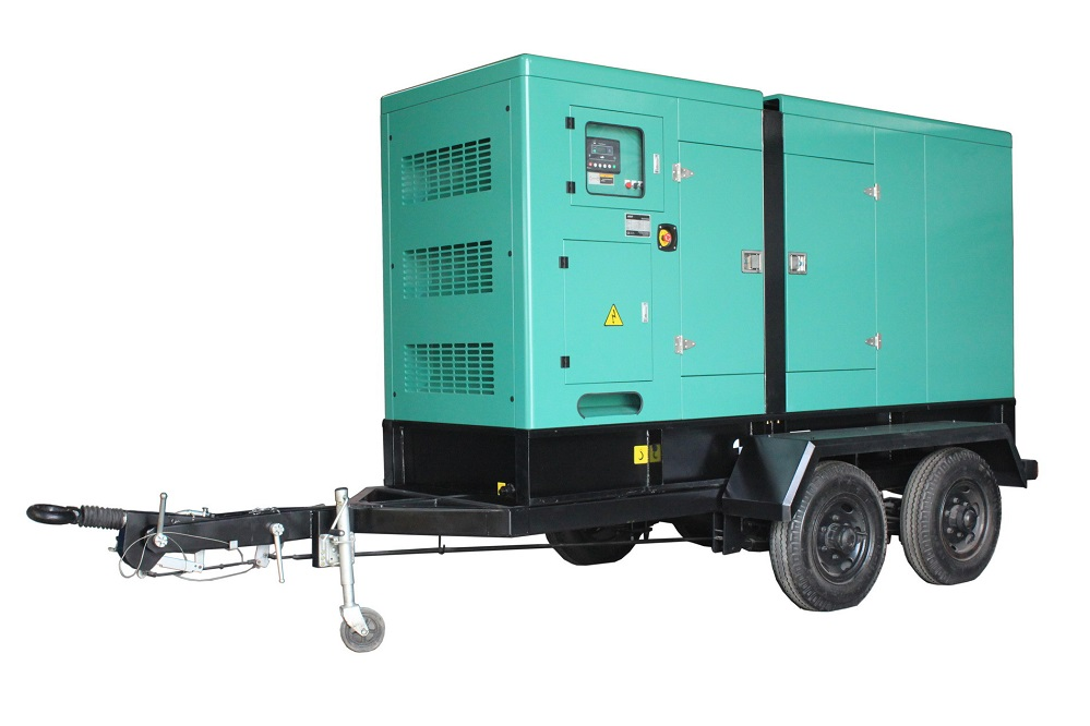 150kva dg set with movable trailer